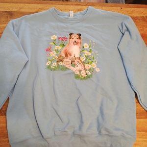 Sheltie/ collie dog sweatshirt